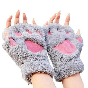 Women Bear Plush Cat Paw Glove-Apparel - www.Gifteee.com - Cool Gifts \ Unique Gifts - The Best Gifts for Men, Women and Kids of All Ages