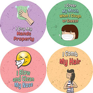 Hygiene Reminder Stickers for Kids-Office Product - www.Gifteee.com - Cool Gifts \ Unique Gifts - The Best Gifts for Men, Women and Kids of All Ages