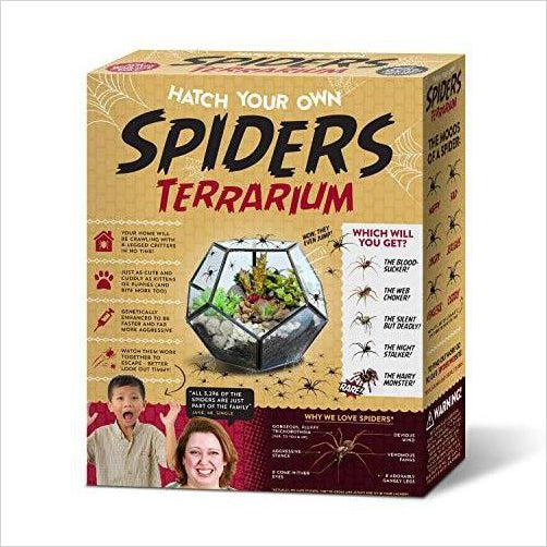 Prank Gift Box Hatch Your Own Spider Terrarium - Find funny gift ideas, the best gag gifts, gifts for pranksters that will make everybody laugh out loud at Gifteee Cool gifts, Funny gag Gifts for adults and kids