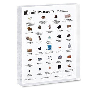 Mini Museum | Science and History Collection | 29 Specimens - Find unique STEM gifts find science kits, educational games, environmental gifts and toys for boys and girls at Gifteee Cool gifts, Unique Gifts for science lovers