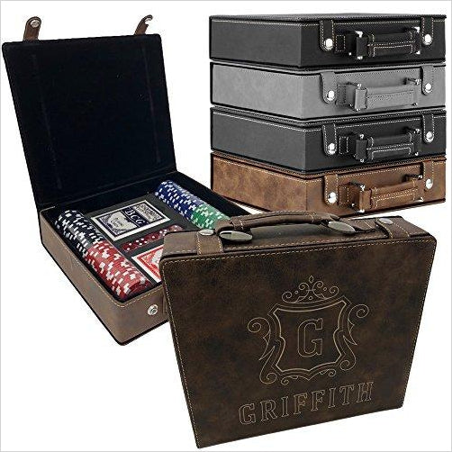 Personalized Poker Set Case - Gifteee. Find cool & unique gifts for men, women and kids