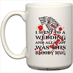 Game of Thrones Wedding - Dire Wolf Bloody Mug-Kitchen - www.Gifteee.com - Cool Gifts \ Unique Gifts - The Best Gifts for Men, Women and Kids of All Ages