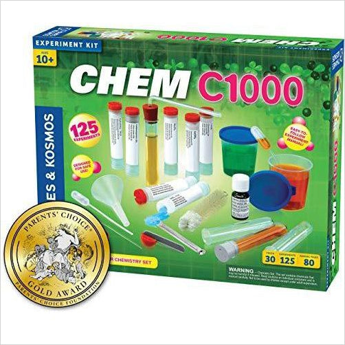 CHEM C1000 (Chemistry Set) - Find unique STEM gifts find science kits, educational games, environmental gifts and toys for boys and girls at Gifteee Cool gifts, Unique Gifts for science lovers