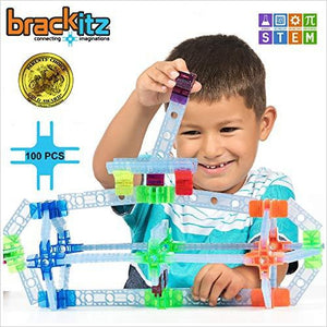 Inventor 100 Piece Set: Educational Construction Set - Learning Toys & Building Blocks for Kids-Amazon Basics - www.Gifteee.com - Cool Gifts \ Unique Gifts - The Best Gifts for Men, Women and Kids of All Ages