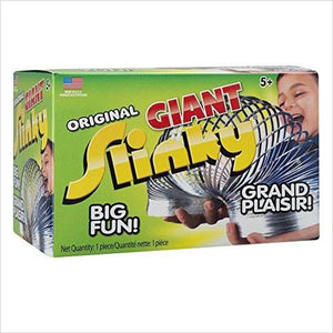 The Original Slinky Brand Giant Metal Slinky - Find special gifts for girls and tweens age 5-11 year old, gifts for your daughter, gifts for your kids birthday or Christmas, gifts for a young princess, gifts for you children classmates and friends at Gifteee Unique Gifts, Cool gifts for girls