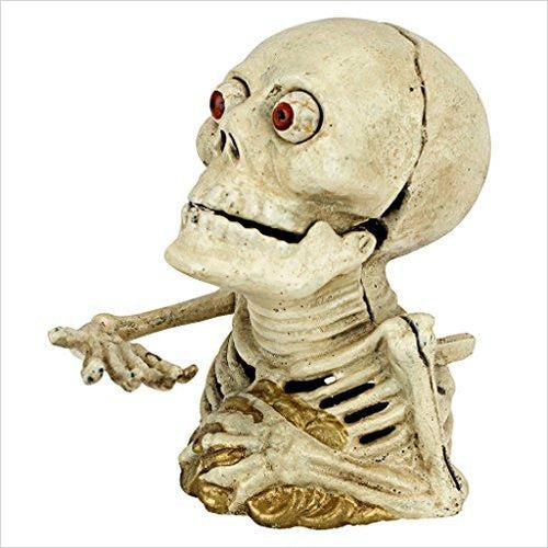 Hungry Skeleton Mechanical Coin Bank - Gifteee. Find cool & unique gifts for men, women and kids