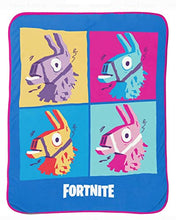 Load image into Gallery viewer, Fortnite 'Llama Grid' Silk Touch Throw, Kid's Bedding - Find Fortnite Battle Royale and Fortnite Chapter 2 Gifts for Fortnite Fans, and Epic games official gifts at Gifteee Unique Gifts, Cool gifts for kids and gamers