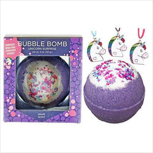 Girls Unicorn BUBBLE Bath Bomb with Surprise Necklace Inside-Beauty - www.Gifteee.com - Cool Gifts \ Unique Gifts - The Best Gifts for Men, Women and Kids of All Ages