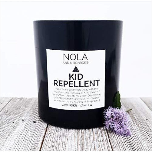 Kid Repellent Lavender vanilla scented soy candle - Gifteee. Find cool & unique gifts for men, women and kids
