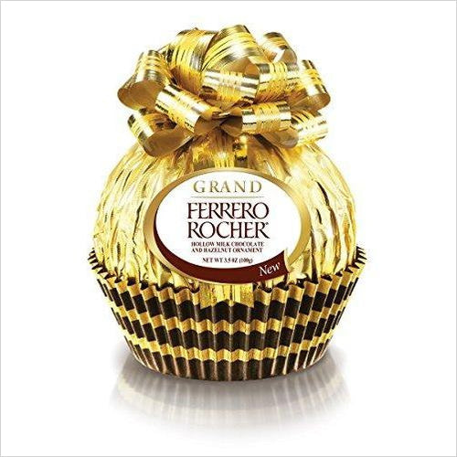 Giant Ferrero Rocher Chocolate, 3.5 Ounce-Grocery - www.Gifteee.com - Cool Gifts \ Unique Gifts - The Best Gifts for Men, Women and Kids of All Ages
