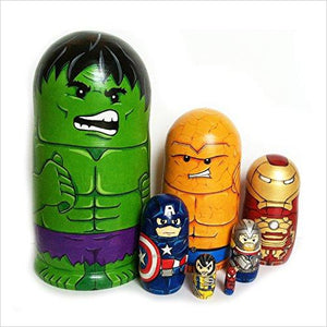 Nesting dolls American superheroes-Toy - www.Gifteee.com - Cool Gifts \ Unique Gifts - The Best Gifts for Men, Women and Kids of All Ages