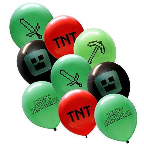 Minecraft Style Party Balloons (25 Pack)-Toy - www.Gifteee.com - Cool Gifts \ Unique Gifts - The Best Gifts for Men, Women and Kids of All Ages