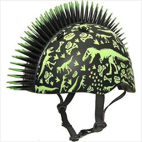 Raskullz T-Rex Bonez Mohawk Helmet - Find the perfect gift for a sport fan, gifts for health fitness fans at Gifteee Cool gifts, Unique Gifts for wellness, sport and fitness