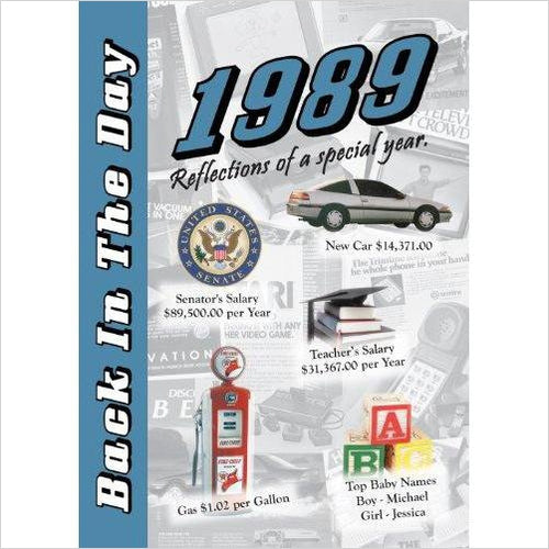 1989 Back In The Day Almanac-Book - www.Gifteee.com - Cool Gifts \ Unique Gifts - The Best Gifts for Men, Women and Kids of All Ages