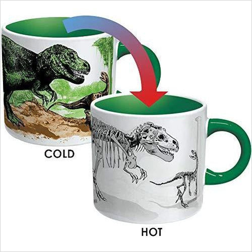 Disappearing Dino Mug-Kitchen - www.Gifteee.com - Cool Gifts \ Unique Gifts - The Best Gifts for Men, Women and Kids of All Ages