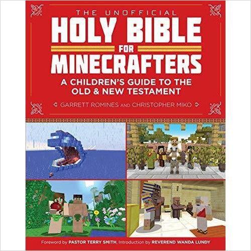 The Unofficial Holy Bible for Minecrafters: A Children's Guide to the Old and New Testament - Find Minecraft gift ideas for kids, educational minecraft gifts, minecraft clothing, minecraft figures, minecraft toys and more at Gifteee Unique Gifts, Cool gifts for Minecraft fans