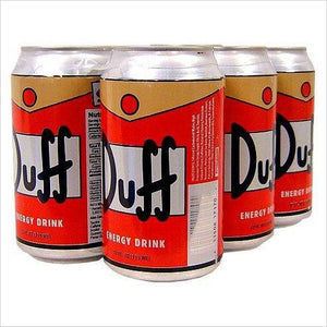 The Simpsons Duff Energy Drink Six Pack-drink - www.Gifteee.com - Cool Gifts \ Unique Gifts - The Best Gifts for Men, Women and Kids of All Ages