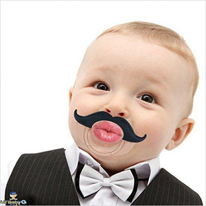 Mustache Pacifier - Find funny gift ideas, the best gag gifts, gifts for pranksters that will make everybody laugh out loud at Gifteee Cool gifts, Funny gag Gifts for adults and kids