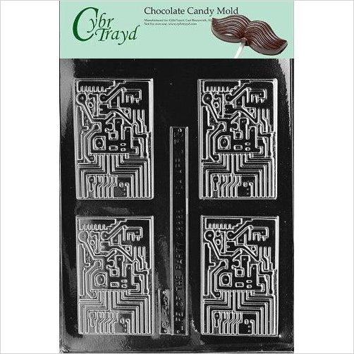 Computer Chip Circuit Board Chocolate Candy Mold - Find unique gifts for gamers Xbox, Play Stations, PS, PSP, Nintendo switch and more at Gifteee Unique Gifts, Cool gifts for gamers
