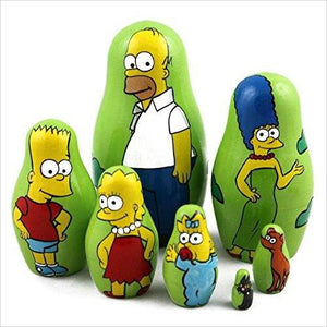 Simpsons Family Matryoshka-Toy - www.Gifteee.com - Cool Gifts \ Unique Gifts - The Best Gifts for Men, Women and Kids of All Ages