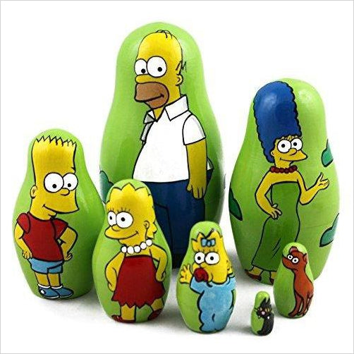 Simpsons Family Matryoshka - Find unique decor gifts for the office and workplace, get cool gadgets for your office desk and cubicle at Gifteee Cool gifts, Unique decor Gifts for the office and workplace