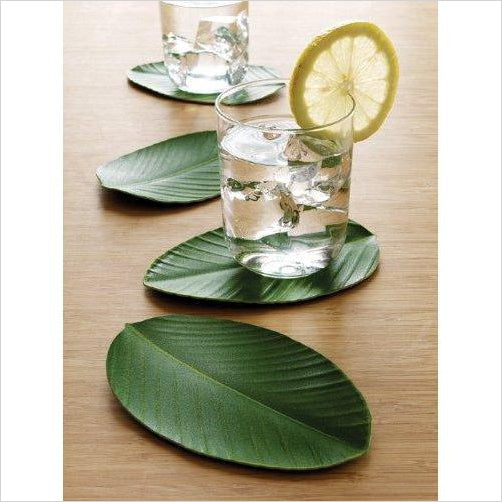 Set of 4 Leaf Shape Drink Coasters-coasters - www.Gifteee.com - Cool Gifts \ Unique Gifts - The Best Gifts for Men, Women and Kids of All Ages