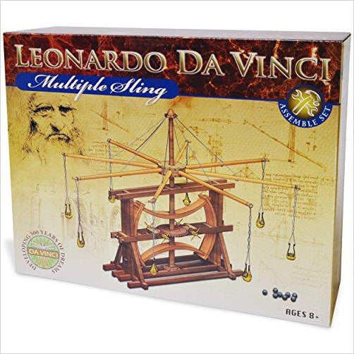Leonardo Da Vinci Multiple Sling - Find unique STEM gifts find science kits, educational games, environmental gifts and toys for boys and girls at Gifteee Cool gifts, Unique Gifts for science lovers
