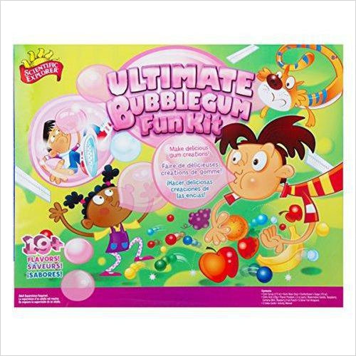 Scientific Explorer Ultimate Bubble Gum Fun Kit - Find unique STEM gifts find science kits, educational games, environmental gifts and toys for boys and girls at Gifteee Cool gifts, Unique Gifts for science lovers