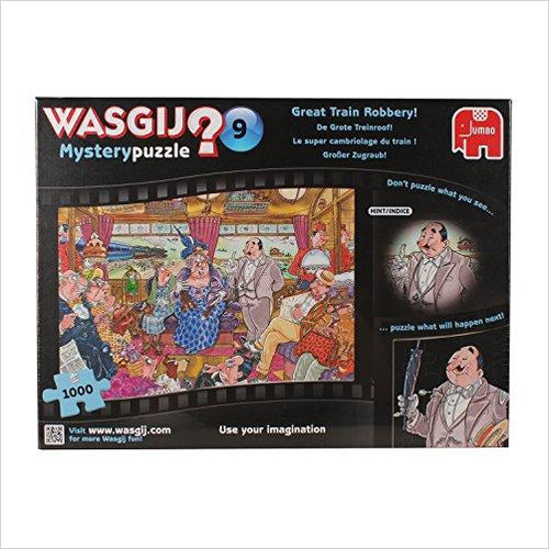 Wasgij 1000 Piece Mystery 9 The Great Train Robbery Jigsaw Puzzle - Gifteee. Find cool & unique gifts for men, women and kids