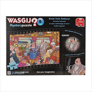 Wasgij 1000 Piece Mystery 9 The Great Train Robbery Jigsaw Puzzle-Toy - www.Gifteee.com - Cool Gifts \ Unique Gifts - The Best Gifts for Men, Women and Kids of All Ages