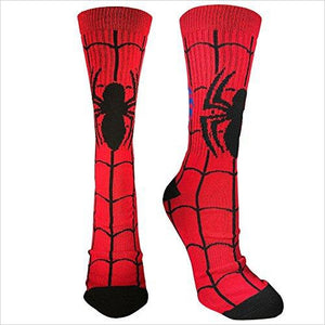 Spider-Man Crew Socks-Apparel - www.Gifteee.com - Cool Gifts \ Unique Gifts - The Best Gifts for Men, Women and Kids of All Ages