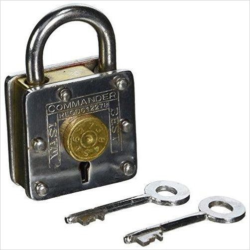 Houdini Under Lock - Metal Trick Lock Puzzle Brain Teaser - Gifteee. Find cool & unique gifts for men, women and kids