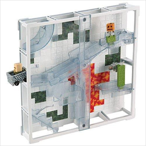 Minecraft Hotwheels Track Blocks Glacier Slide Playset-Toy - www.Gifteee.com - Cool Gifts \ Unique Gifts - The Best Gifts for Men, Women and Kids of All Ages