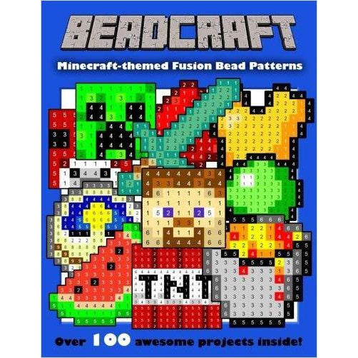 Beadcraft: The Ultimate Minecraft-themed Fusion Bead Pattern Collection - Find unique arts and crafts gifts for creative people who love a new hobby or expand a current hobby, art accessories, craft kits and models at Gifteee Cool gifts, Unique Gifts for arts and crafts lovers