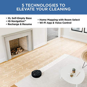 Self-Empty, Self-Cleaning Robotic Vacuum, Works with Alexa