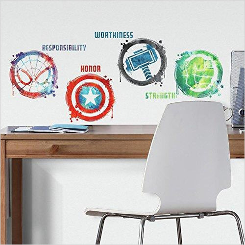 Marvel icons Peel & Stick Wall Decals - Find unique gifts for superhero fans, the avengers, DC, marvel fans all super villians and super heroes gift ideas, games collectibles and gadgets at Gifteee Cool gifts, Unique Gifts for comic book fans