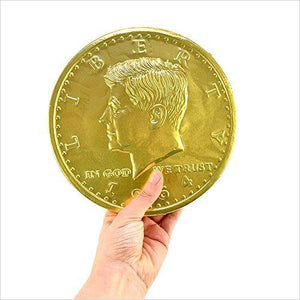 Giant Chocolate Coin 16 oz - Gifteee. Find cool & unique gifts for men, women and kids