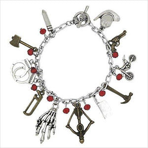 Walking Dead Silvertone Charm Bracelet-Single Detail Page Misc - www.Gifteee.com - Cool Gifts \ Unique Gifts - The Best Gifts for Men, Women and Kids of All Ages