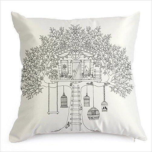 DIY Coloring Pillowcase Decoration (Treehouse) - Gifteee. Find cool & unique gifts for men, women and kids