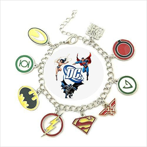 Super Heroes Charm Bracelet-Toy - www.Gifteee.com - Cool Gifts \ Unique Gifts - The Best Gifts for Men, Women and Kids of All Ages