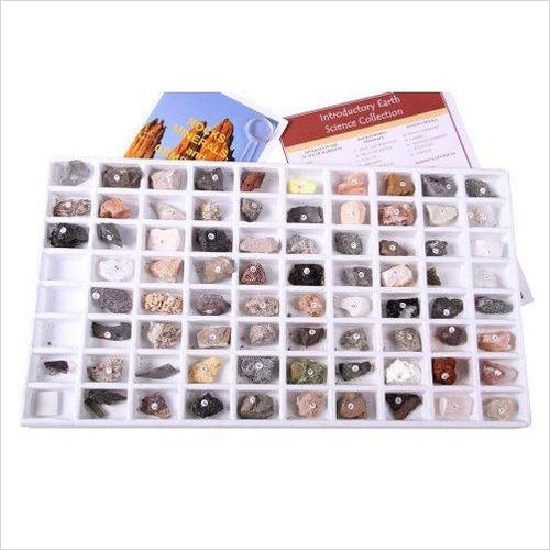 Rocks and Minerals Collection - Find unique STEM gifts find science kits, educational games, environmental gifts and toys for boys and girls at Gifteee Cool gifts, Unique Gifts for science lovers