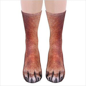 Unisex Adult Animal Paw Crew Socks - Sublimated Print - Dog-Apparel - www.Gifteee.com - Cool Gifts \ Unique Gifts - The Best Gifts for Men, Women and Kids of All Ages