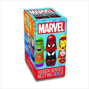 Marvel Hidden Heroes Nesting Dolls-Toy - www.Gifteee.com - Cool Gifts \ Unique Gifts - The Best Gifts for Men, Women and Kids of All Ages