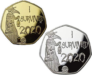 I Survived 2020 Memorabilia Gold & Silver Coins