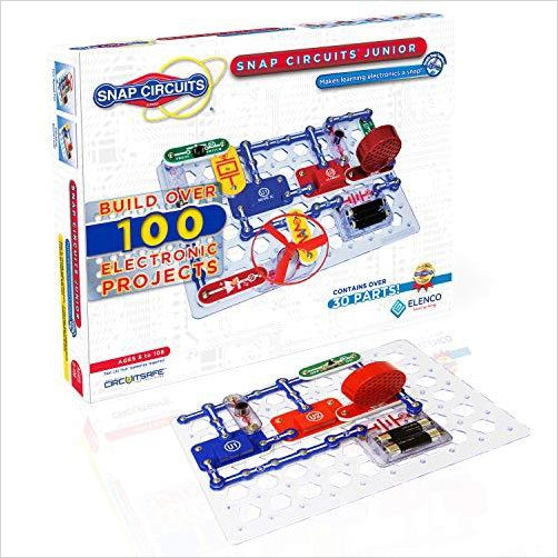 Snap Circuits Jr. SC-100 Electronics Discovery Kit-BISS Basic - www.Gifteee.com - Cool Gifts \ Unique Gifts - The Best Gifts for Men, Women and Kids of All Ages