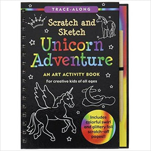 Unicorn Adventure Scratch and Sketch-Book - www.Gifteee.com - Cool Gifts \ Unique Gifts - The Best Gifts for Men, Women and Kids of All Ages