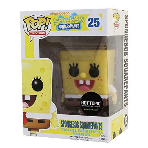 Funko POP Television Vinyl Figure - Spongebob Squarepants - Exclusive Glow In The Dark - Find unique gifts for a newborn baby and cool gifts for toddlers ages 0-4 year old, gifts for your kids birthday or Christmas, special baby shower gifts and age reveal gifts at Gifteee Unique Gifts, Cool gifts for babies and toddlers
