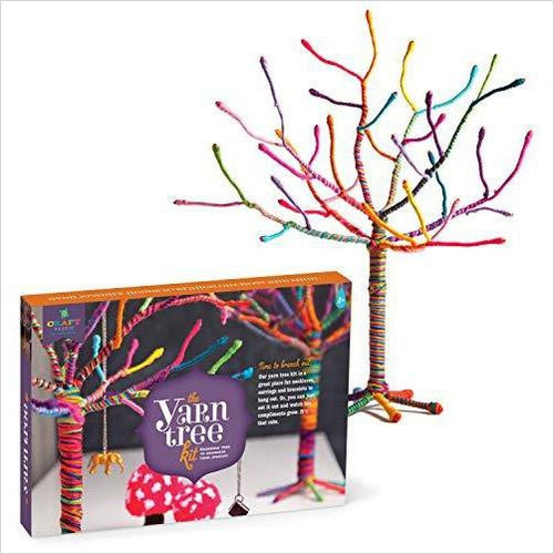 Yarn Tree Kit - Jewelry Organizer-Toy - www.Gifteee.com - Cool Gifts \ Unique Gifts - The Best Gifts for Men, Women and Kids of All Ages