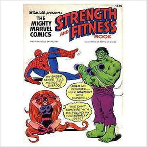 Mighty Marvel Comics Strength and Fitness Book-Entertainment Memorabilia - www.Gifteee.com - Cool Gifts \ Unique Gifts - The Best Gifts for Men, Women and Kids of All Ages