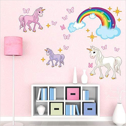 Unicorn Set Wall Decal - Gifteee. Find cool & unique gifts for men, women and kids